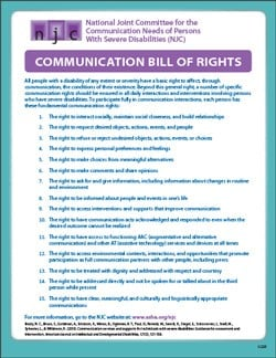 Communication Bill of Rights During COVID